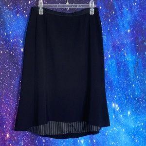 H&M- Black MidiSkirt size 8